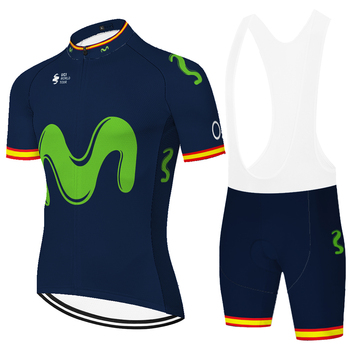 Conjunto de ropa de ciclismo movistar para hombre, maillot deportivo para ciclismo,...