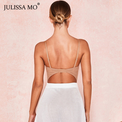 JULISSA MO Black Double Layer Mesh Bodysuits Women Sexy V Neck Transparent Rompers Summer Camis Strap Backless Party Overalls Lahore