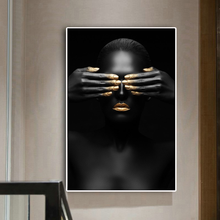 Modern Black Woman Model Canvas Prints Painting Wall Art Poster And Prints Pictures Home Decoration For Living Room prints