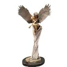 Elegancki anioł odkupienie rzeźba ozdoby z żywicy dla Home Office kościół akcesoria dekoracyjne wielkanoc kreatywność wykwintny Design