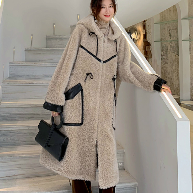 Real Fur Coat Female Wool Jacket Autumn Winter Coat Women Clothes 2020 Korean Vintage Sheep Shearling Tops Manteau Femme ZT4265