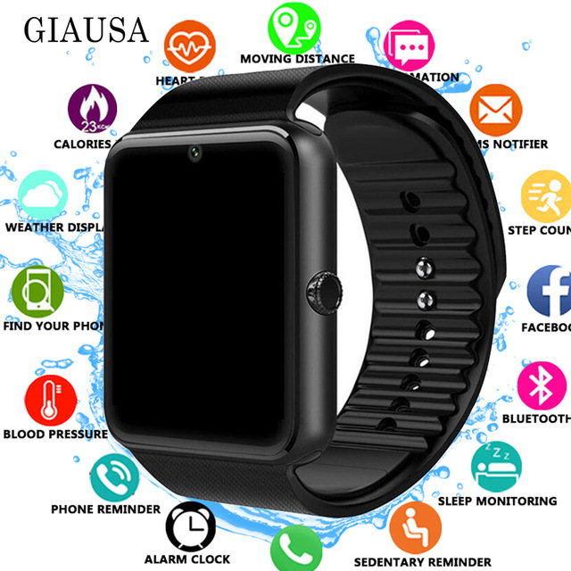 Smart Watch GT08 Clock Sync Notifier Support Sim TF Card Bluetooth Connectivity Android Phone Smartwatch Alloy Smartwatch pk Q1