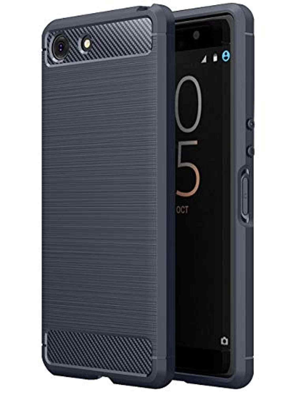 In Fibra di carbonio Armatura per Sony XZ4 Compatto XZ3 XZ2 XZ1 XA3 Ultra XA2 XA1 Più Molle Della Copertura di TPU Della Copertura Del Silicone per Xperia 1 2 10 20