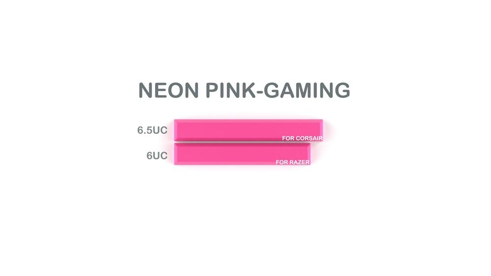 015-CYBERPUNK PUMPER Spacebar Neon Pink Gaming