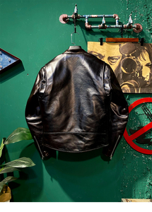 Image 5 - שנה! משלוח חינם. פקיסטן אמיתי עור בגדים. מותג יוקרה מנוע שיזוף עור מעיל, גברים רזה אמיתי עור מעיל