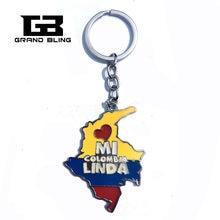 Государственный тематический подарок «Колумбия» сувенирный брелок