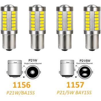 4 sztuk 1156 1157 BA15S P21W 5630 5730 LED żarówka samochodowa do bagażnika światła hamowania 12V DC lampa cofania samochodu do jazdy dziennej sygnał świetlny tanie i dobre opinie meetrock CN (pochodzenie) Turn Signal 800Lm BA15S (1156) 12 v WHITE LADA Signet 1990 1991 1992 1993 Red white yellow for all cars