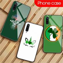 Four Leaf Clover DIY Phone Case Tempered Glass For XiaoMi 8SE 6 8lite MIX2S Note 3 Redmi Note 7 5 4 Redmi 6A 5Plus 4X(China)