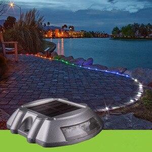Image 4 - Nova luz solar à prova d água, 6led indicador de sinal de estrada à prova d água jardim paisagem luzes arredondadas iluminação do gramado