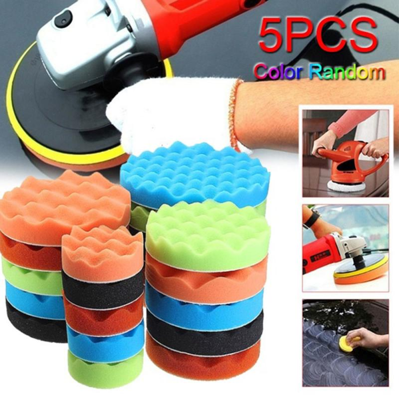 8Pcs Sponge Polishing Waxing Buffing Pads Kit Set Compound  3/4/5/6/7 Inch Sponge Buffing Waxing Tool Car Sponge Mat Tools TSLM1