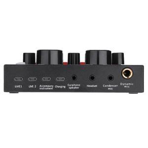 Image 5 - V8 Bluetooth Audio USB casque Microphone Webcast carte son en direct 112 types de diffusion sonore électrique pour téléphone ordinateur PC