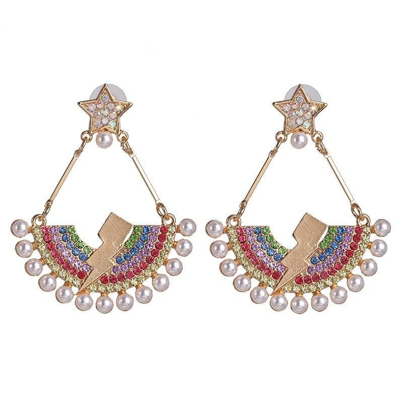 Fashion-LN Simple simulation pearl earrings Stud bride earrings jewelry