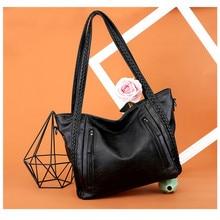 high quality soft leather large pocket casual handbag womens shoulder bag capacity New Fashion Handbags
