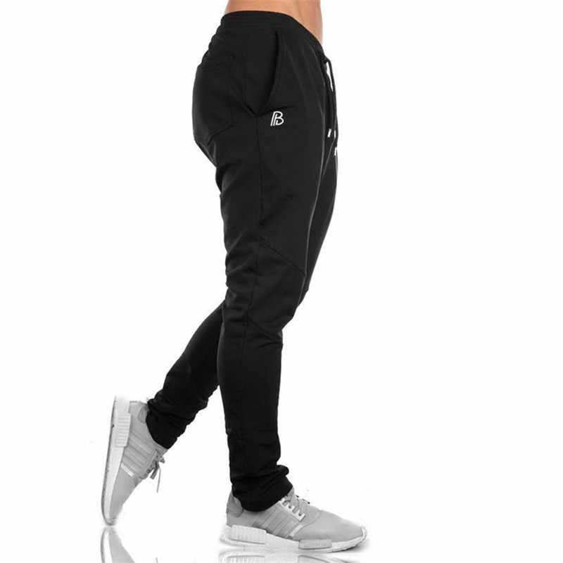 Уличная Повседневная мужская одежда, спортивные штаны, мужские бегуны, спортивные штаны для фитнеса, новые модные мышечные Мужские штаны для фитнеса