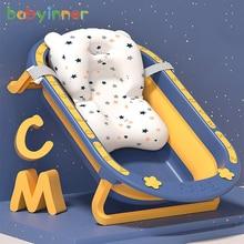 Babyinner 79*49*20cm Foldable baby bathtub Large Capacity infant Bath Barrel Comfortable Household baby Bath Tub 0-15Y