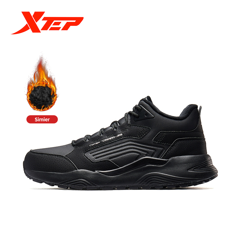 Xtep Men's Warm Winter Shoes Velvet Sports Shoe 2019 New Arrival Men's Casual Shoes Male Sneaker Shoes 881419379561
