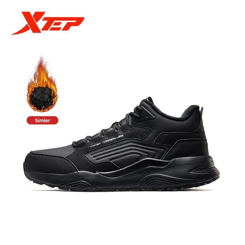 Xtep Men's Warm Winter Shoes Velvet Sports Shoe 2019 New Arrival Men's Casual Shoes Male Sneaker Shoes 881419379561