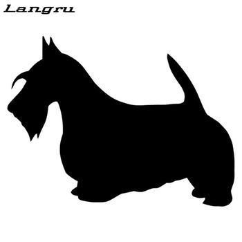 Langru Scotland Terrier Dog Vinyl Decal Lovely Car Stickers Car Accessories Jdm image