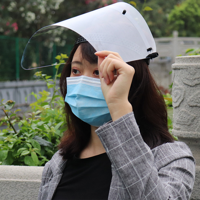 Anti-Saliva Windproof Dust proof Face Mask Transparent PVC Safety Face Shield Screen Spare Visors 5