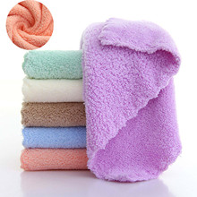 Absorbent Towels Handkerchief Convenience 1pcs Square Fleece Coral Soft Solid-Color Children's
