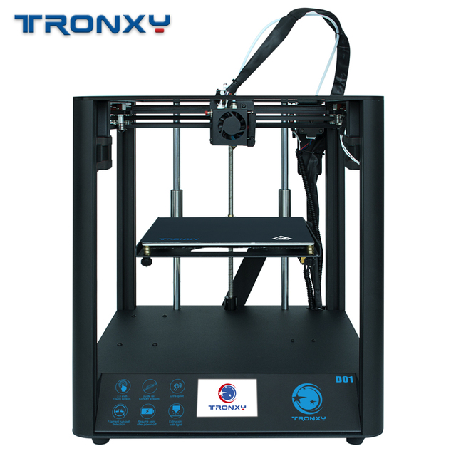 2020 neueste Schnelle Montage 3D Drucker TRONXY D01 mit Industrie Linear Guide und Titan Extruder Optional Gehäuse acryl bord