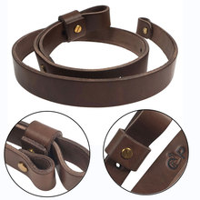 цена на Shotgun Rifle Sling Strap Cow Hide Leather with Mil-Spec Swivels Durable Adjustable Shoulder Strap Belt Hunting Gun Accessories