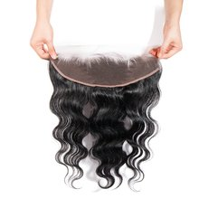 цена на Eseewigs Free Part Ear To Ear 13x4Full Frontal Lace Closure Body Wave With Baby Hair Brazilian Remy Human Hair Frontal Closures