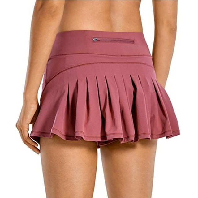 NIBESSER Women Sports Tennis Skirts Golf Fitness Shorts High Waist Athletic Running Short Pleated Sport Skort Pocket Mini Skirt 1