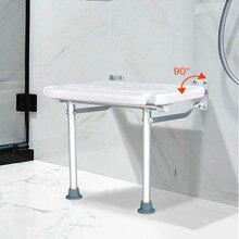 Sillas de baño plegables taburete de ducha baño Silla de pared antideslizante hombre viejo antideslizante asiento de inodoro ir al baño