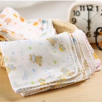 10PCS Baby Feeding Towel Teddy Bear Bunny Dot Chart Printed Children Small Handkerchief 1