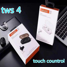 TWS-4 TWS Wireless Headset Bluetooth 5.0 Sports Earphonees  Touch Control Earbuds vs i12 9s i60 i80 for iphone huawei xiaomi