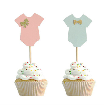 10Pcs Baby Shower decorations Its a Boy Girl Clothes Cupcake cake Toppers tools Birthday Party Decoration Kids DIY Baby shower-S 30pcs golden glitter unicorn horn theme cupcake toppers kid s party baby shower decors
