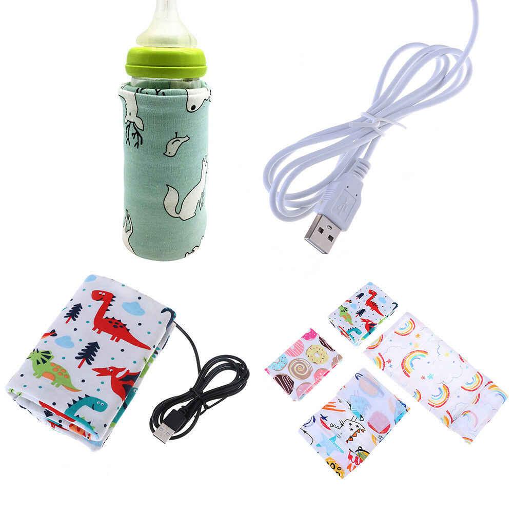 USB Электрический нагреватель для бутылок портативный молочный дорожный подогреватель чашки подогреватель для младенцев сумка для детской бутылочки крышка для хранения термостат