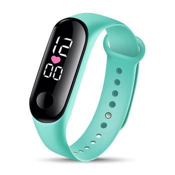 Bransoletka sportowa inteligentne zegarki damskie cyfrowe elektroniczne zegarki damskie dla kobiet zegarki damskie dziewczęce zegarki chłopięce Hodinky tanie i dobre opinie bez wodoodporności Cyfrowy Z tworzywa sztucznego Sprzączka CN (pochodzenie) Akrylowe bez opakowania Silikon Owalne Brak