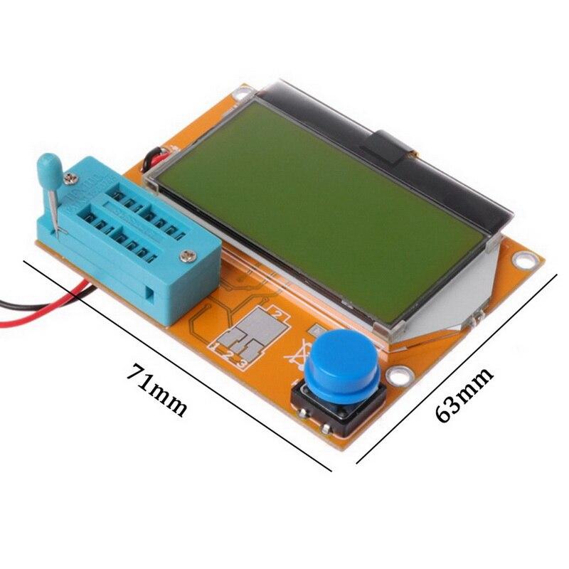 Цифровой V2.68 ESR T4 диодный Триод Емкость MOS/PNP/NPN LCR 12864 ЖК экран тестер ESR метр Мега 328 транзисторный тестер|Мультиметры|   | АлиЭкспресс