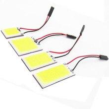 1 pièces Auto lampe Cob 48 SMD puce lampe de lecture Led T10 ampoule Led voiture Parking Auto intérieur panneau lumineux Festoon voiture accessoires