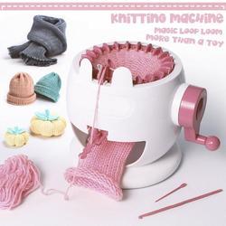 Venda quente agulhas crianças tricô máquina grande mão tecelagem tear cachecol diy chapéu ama e meias adulto crianças presentes tricô ferramenta