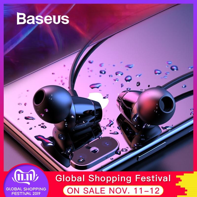 Baseus IPX5 S09 fone de Ouvido Bluetooth Sem Fio Fones De Ouvido À Prova D' Água Esportes Neckband Fone de ouvido fone de Ouvido Fones de Ouvido Estéreo Fones de Ouvido