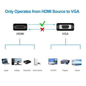 Image 4 - Conversor amkle hdmi para vga, adaptador com suporte para 1080p com cabo de áudio, para hdtv, xbox, ps3 caixa de tv para notebook e ps4