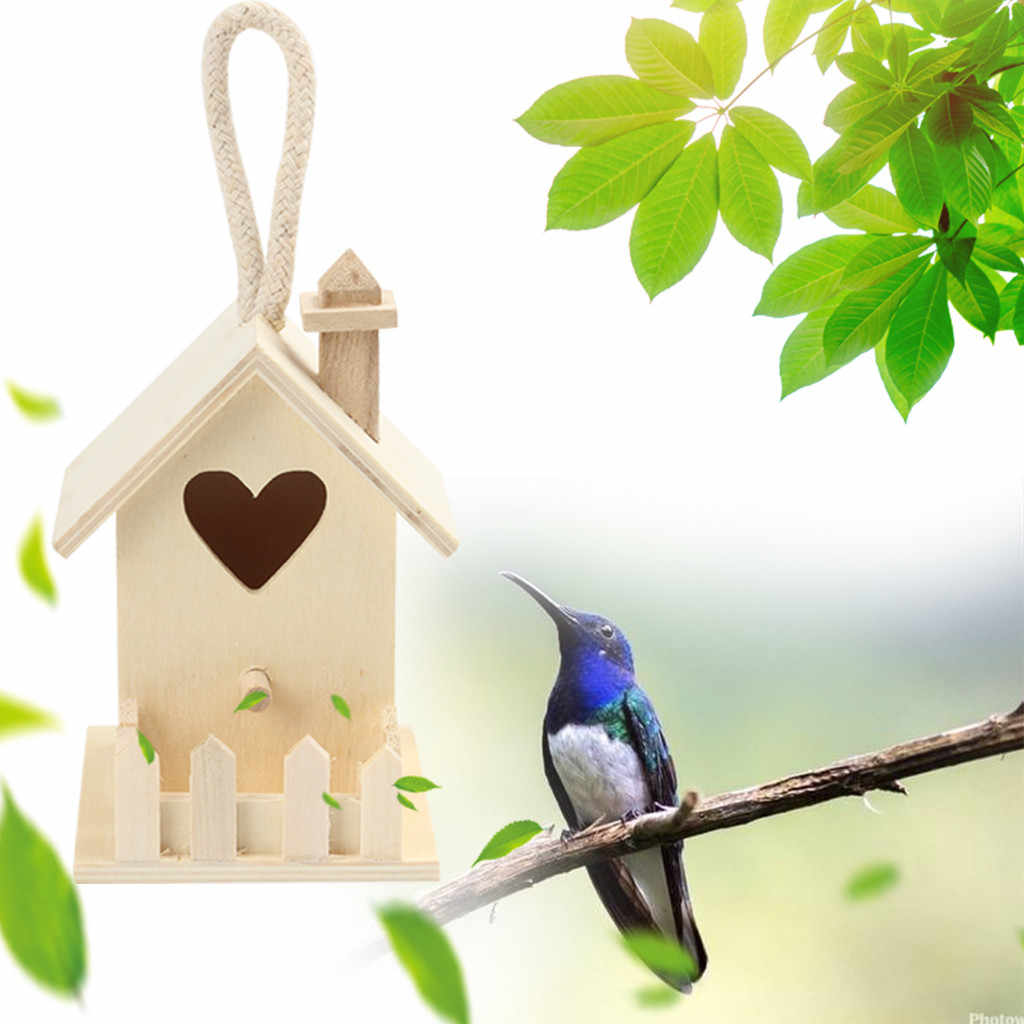 Wooden Bird House Nest Creative Wall-mounted Hanging Bird Nest Home Decoration Gardening Decoration Dropshipping