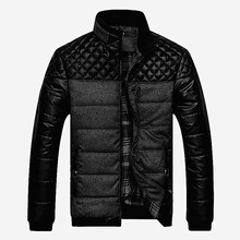 PU Patchwork Designer Jackets Men Outerwear Winter Business Male Leather Jacket Clothing Brand Men's Jackets and Coats 4XL