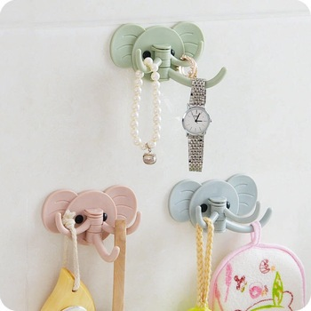 Hook Wall Hanging Elephant TrunkHanging Clothes Kitchen Hat Scarf Key Hook Kitchen Hanger Decoration Hook Kitchen Convenience image