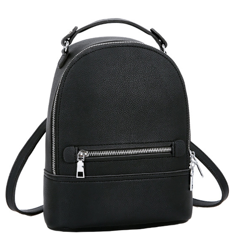 Simple Style Women Fashion Small Pu Leather Backpacks Female Backpack Travel Bag School Bags For Teenagers Girls