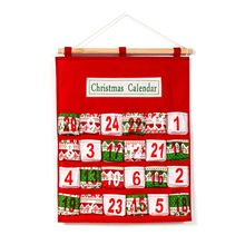 Christmas Advent Countdown Calendar Multi-layer Storage Bag Hotel Lobby Family Decor Pendant Pocket Xmas Gift