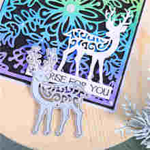DiyArts Flower Background Metal Cutting Dies Frame Craft Stencil Templates for Diy Scrapbooking Deer Paper Embossing Mold New diyarts flower frame dies background metal cutting dies new 2020 card making craft paper stencil templates for diy scrapbooking