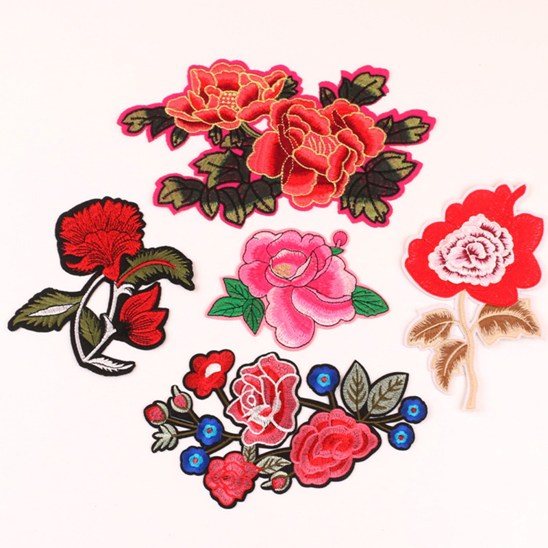 Vintage Badge Embroidery Applique Patch Sticker Flower DIY Clothes//Hat//Bags