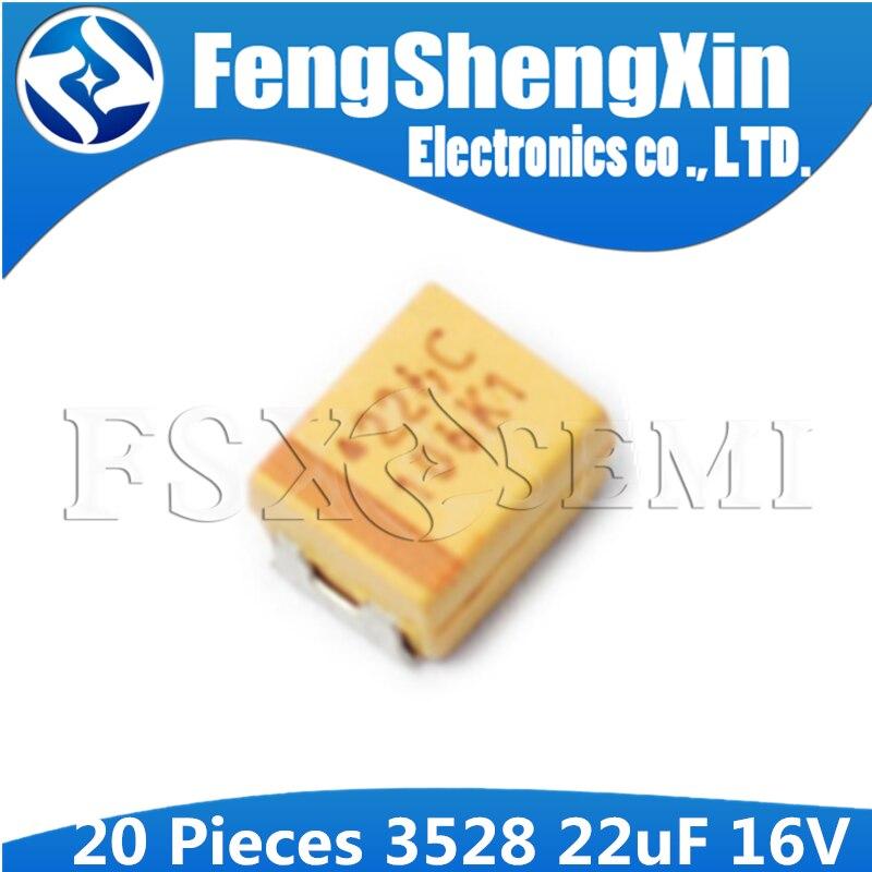 Lot of 20 AVX Tantalum Capacitor 22uF 6V Size B SMD