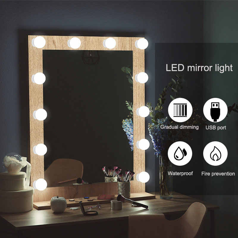 Led Ampoule Tricolore Gradation Cacher Cablage Lumiere Chaine Spin Usb Maquillage Miroir Lampe A Led Aliexpress