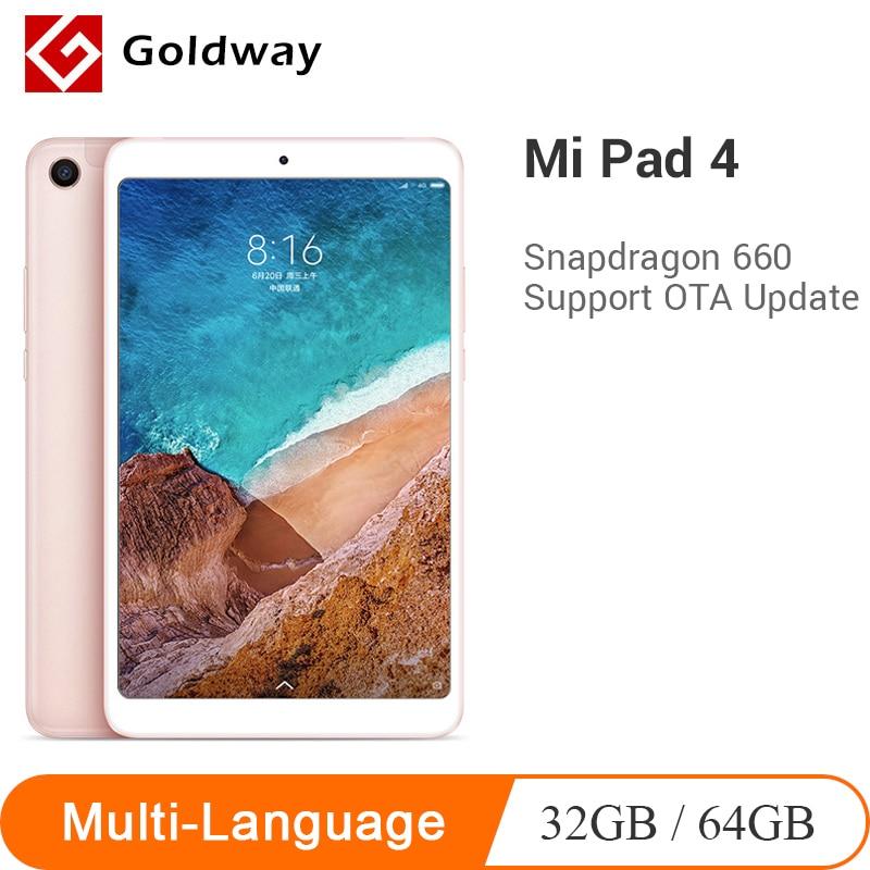 Original Xiaomi Mi Pad 4 Mi Tablets 4 Snapdragon 660 AIE 8'' 16:10 Display Tablet 13MP Identification 6000mAh Bluetooth 5.0