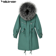 Women Winter Jacket Parkas Hooded Fur Female Long with Large New-Arrival Coat Fur-Lining